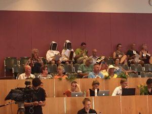 Amstelglorie imkers tijdens behandeling van Koers 2025