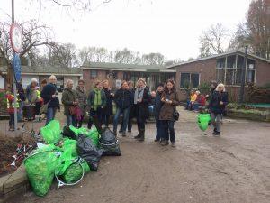 Amstelglorie wandelen en plastic prikken: resultaat