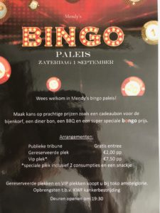 Mandy's Bingopaleis flyer