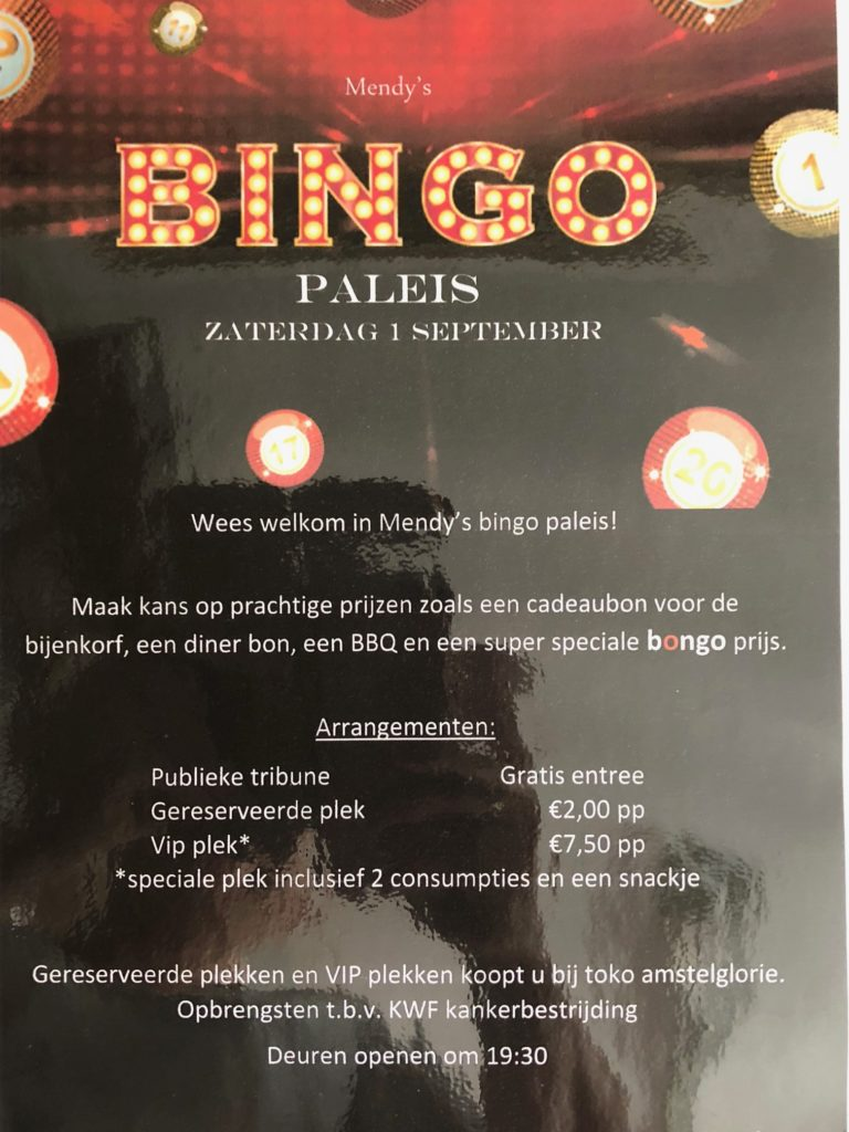 Mandy's Bingopaleis flyer