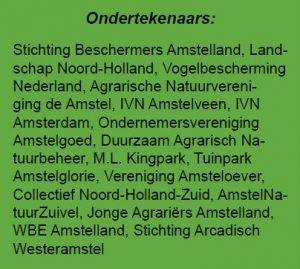 Ondertekenaars manifest Amstelland
