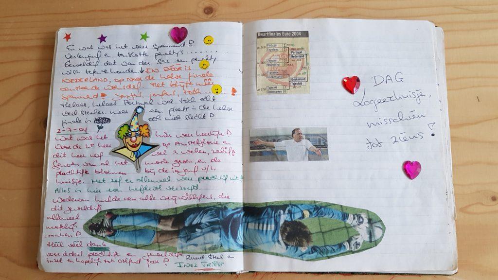 pagina uit het gastenboek van het Logeerhuis op Amstelglorie