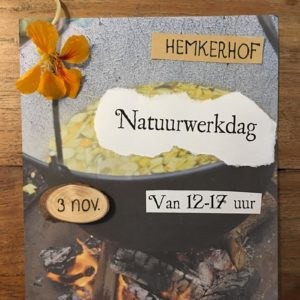 Uitnodiging Amstelglorie Natuurwerkdag op de Hemkerhof