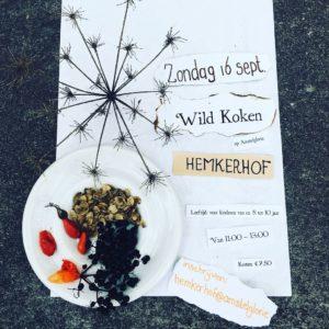 Uitnodiging Wildkoken voor kinderen, zaterdag 16 september