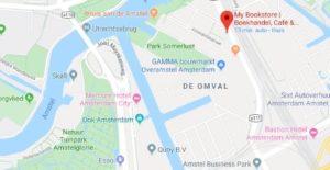 Plattegrond Amstelkwartier met My Bookstore & Amstelglorie