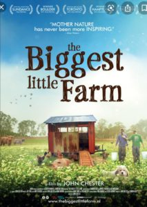 Filmposter Biggest little Farm, filmvertoning op Amstelglorie