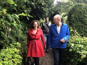 wethouder Marieke van Doorninck bezoekt Amstelglorie